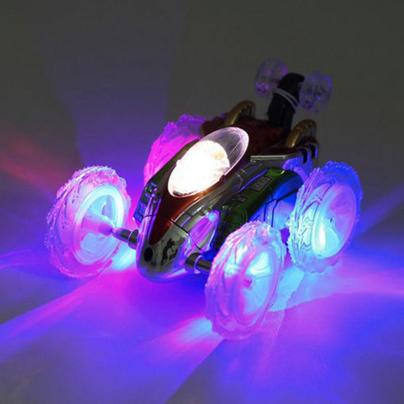 Boys Gift Toy 360 Tumbling Electric Controlled RC Stunt Dancing Car Flashing Light Dasher Vehicle Kids Remote Control Toy