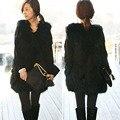2016 mujeres de piel falsa chaleco Winter Warm Coat Outerwear chaqueta sin mangas del chaleco H032