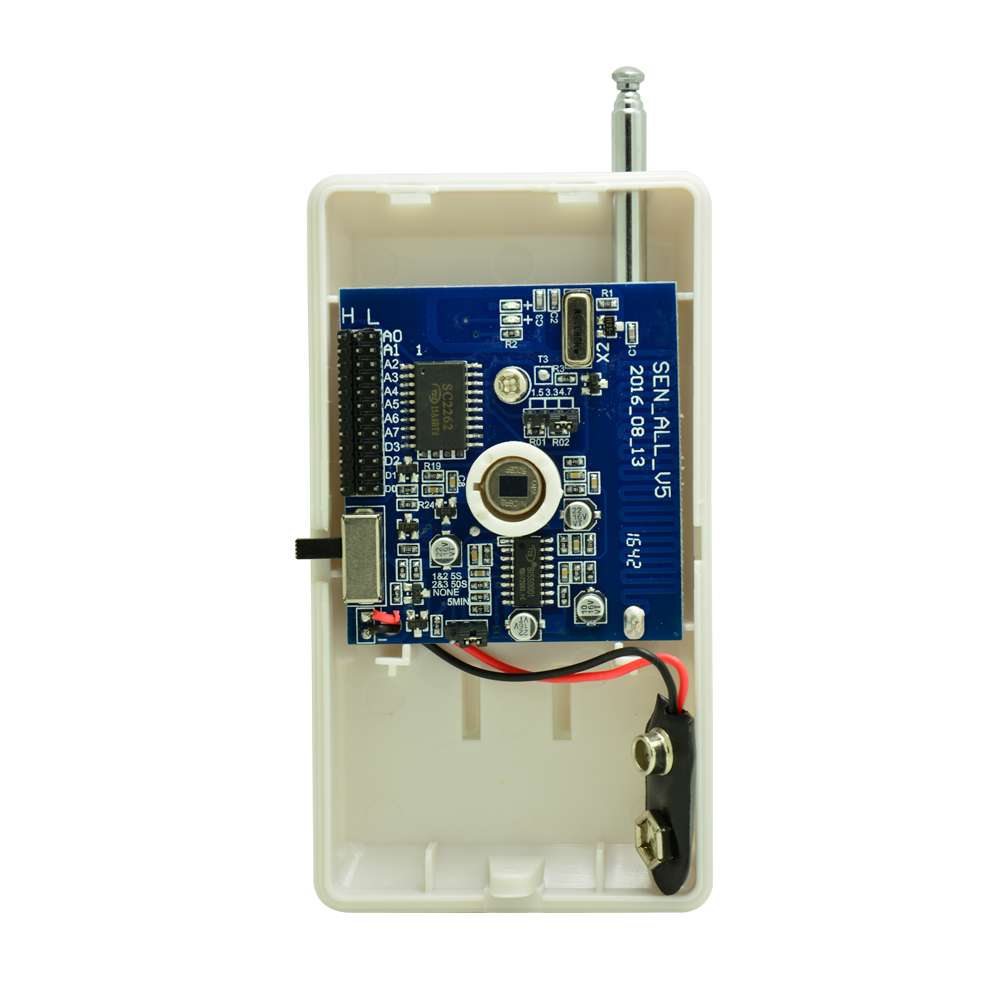 2 PCS Adjustable code Wireless PIR sensor 2262 chip 315 or 433 MHz Home Security font