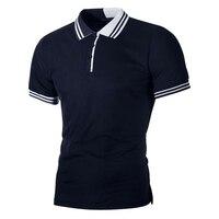 Men Polo Shirt Men Gray White Short Sleeve 989#