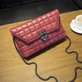 women shoulder bag 2015 new fashion quilted shell bag soft pu leather handbag girls casual solid chain messenger bagHJLN1368