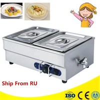 High Quality Stainless Steel Electric 2 Tank Food Warm Bain Marie For Sale