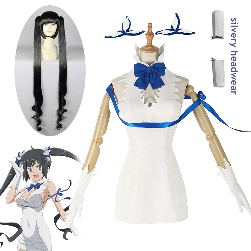 Hestia Cosplay Costume Sexy Dress Anime Is It Wrong That I Want To Meet You In A Dungeon Halloween Cosplay Costume Women Dress