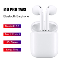 I10 Pro TWS Wireless Bluetooth 5.0 Earphones Touch Control 3D Stereo Earbuds for Iphone Samsung Huawei Xiaomi dto i10 94s pro