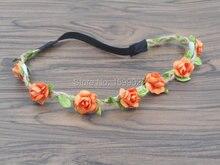 14 teile/los Bohemian Elastischem Haarbänder für Kinder Kinder Frauen Mädchen Hanf Hippie Stirnbänder Braut Reif Gypsy Kopfschmuck