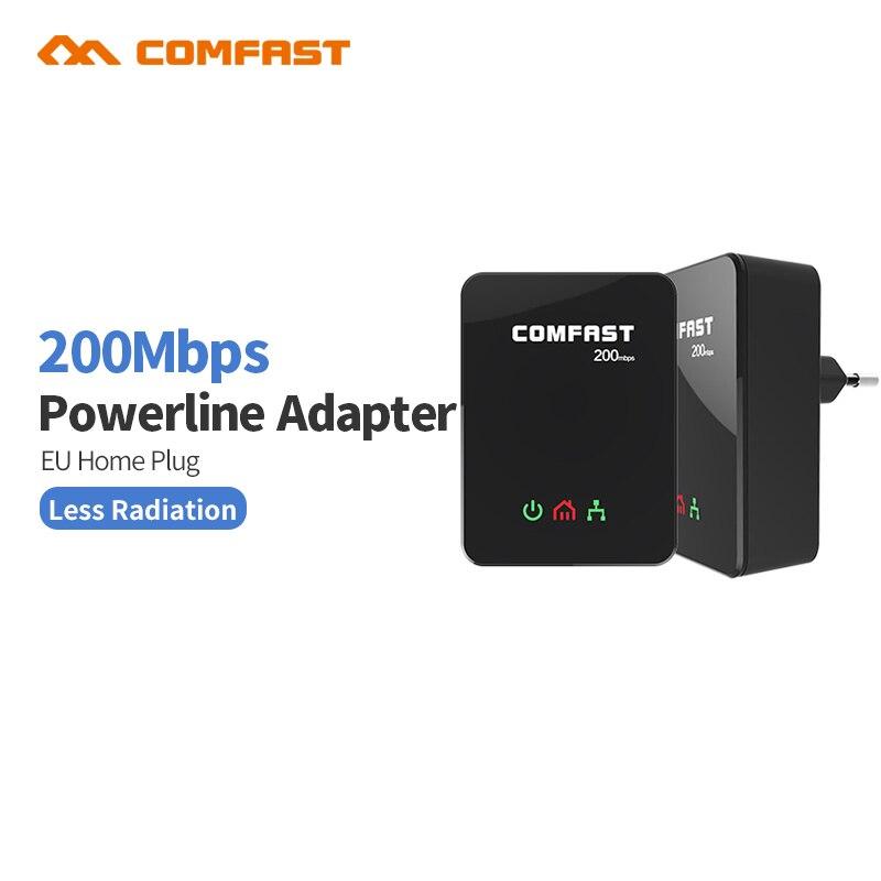 Prix pour Comfast cf-wp200m puissance ligne ethernet adaptateur extender 200 mbps comfast 2.4 ghz mini plc accueil plug réseau powerline adaptateur kit