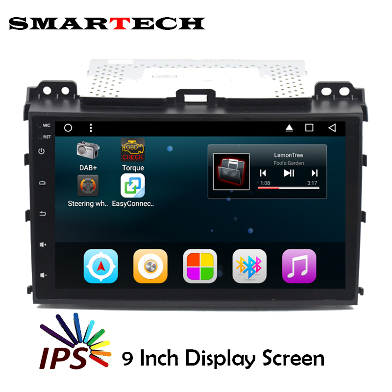 SMARTECH 2Din Prado 120 Car Stereo RDS Radio Android 6 0 IPS Screen Car Multimedia For