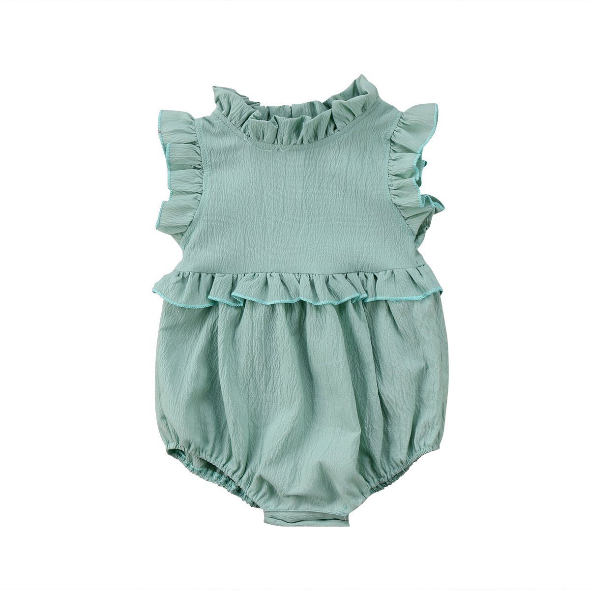 где купить Newborn Baby Girls Sleeveless Ruffles Romper Jumpsuit Clothes Outfits Summer по лучшей цене