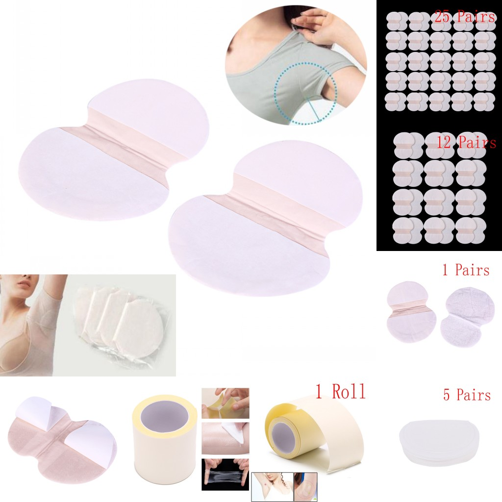 New 1/5/12/25 Pair Underarm Dress Clothing Armpit Sweat Scent Perspiration Pad Shield Absorbing Deodorant Antiperspirant Pads