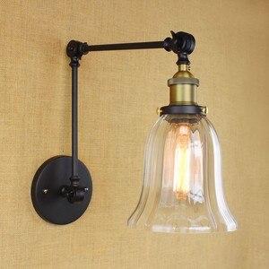 Image 5 - Iwhd Loft Phong Cách Bóng Đèn Edison Led Đèn Chao Đèn Thủy Tinh Đầm Tay Dài Vintage Đèn Tường Sconce Lampara Pared