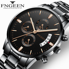 FNGEEN 2019 Quartz Watch Men Business Waterproof Auto Date Watch
