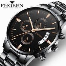 FNGEEN 2019 montre à Quartz hommes d'affaires étanche montre de Date automatique mâle erkek kol saati montre pour hommes de luxe montres