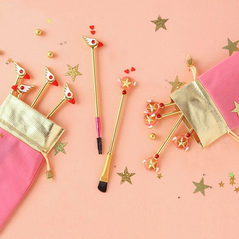 Hair Care & Styling Gentle Japan Anime Comb Cardcaptor Sakura Cute Kawaii Comb Card Captor Sakura Girls Pink Hair Brush Metal Combs Hairbrush Magic Wand Attractive Appearance Beauty & Health