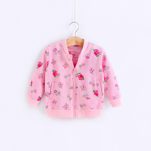 Baby spring and autumn top 2 - 3 clothes infant spring cardigan coat female child spring 0-1 year old