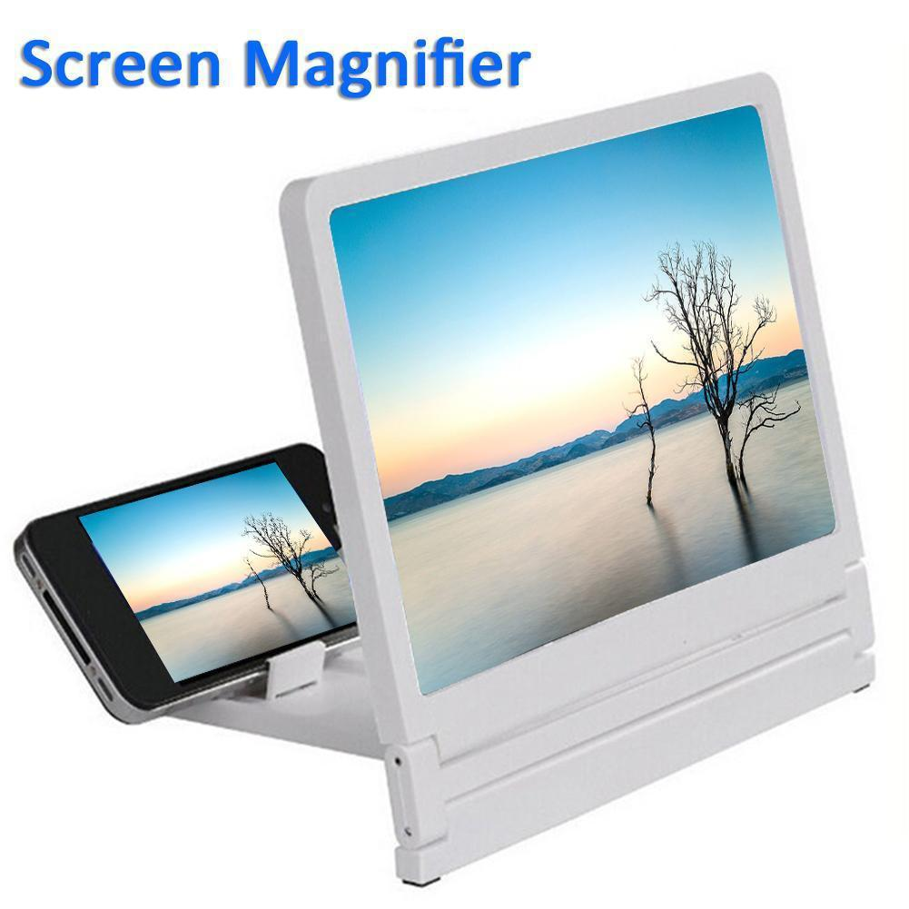 3D Mobile Phone Screen Magnifier HD Video Amplifier For Smartphone Stand Enlarger HD Video Magnifying Glass