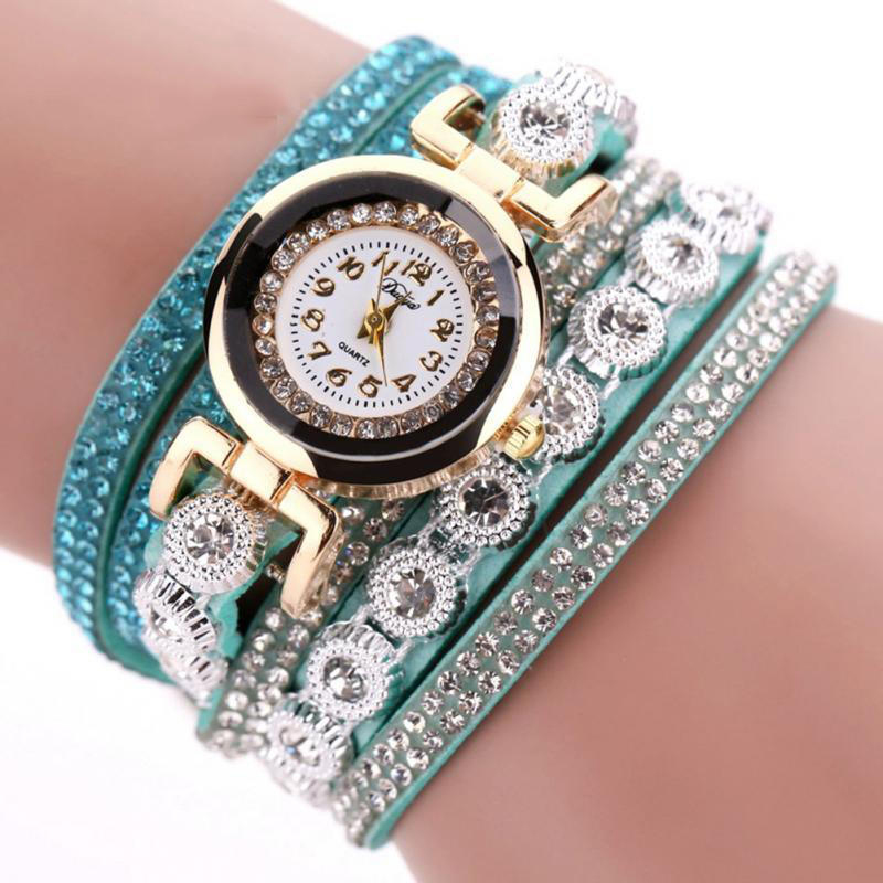 TIke Toker Fashion Luxury Rhinestone Armbandsur Klockor Ladies Quartz - Herrklockor - Foto 2