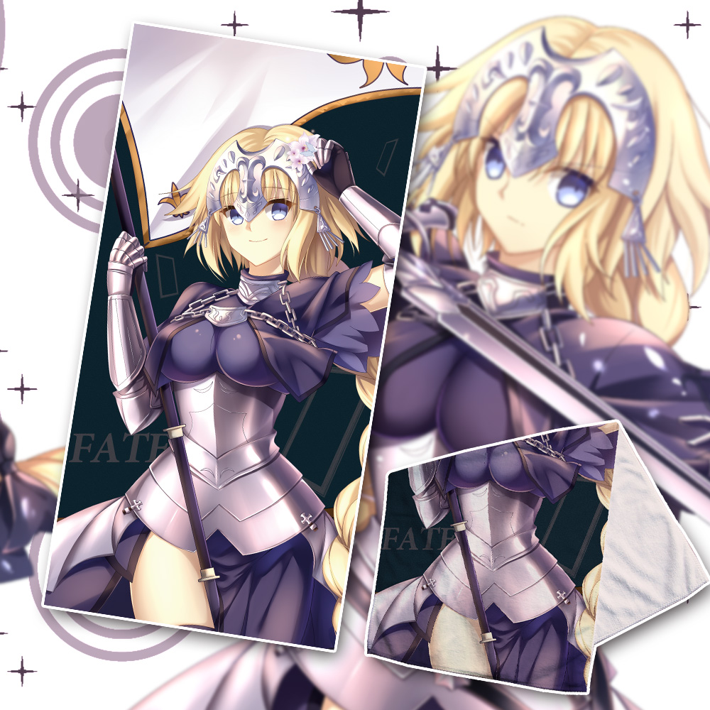 Costumes & Accessories Aspiring Animejk Fate Grand Order Saber Alter Joan Of Arc Cosplay Fgo Beach Face Bath Towel Cartoon Washcloth Facecloth Soft Jeanne Darc Dependable Performance