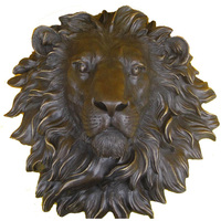 stickers cutting dies Copper crafts large copper lion lion head ornaments talisman Home Furnishing office decoration sculpture