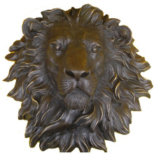 stickers cutting dies Copper crafts large copper lion head ornaments talisman Home Furnishing office decoration