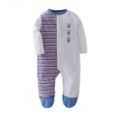 Unisex-Baby Coveralls nap Buttons O-Neck 100% Cotton Long-Sleeves Cute Soft Breathable Jumpsuits 3-18 Months