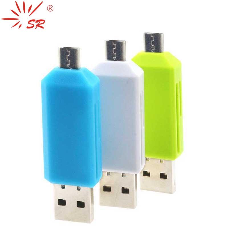 SR 2 In 1 Cellphone OTG Card Reader Universal Micro USB