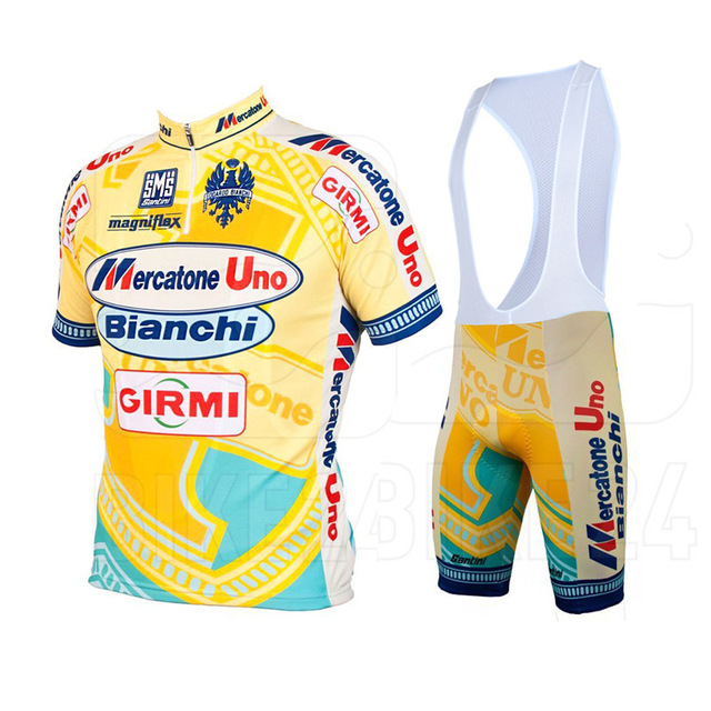 Marco Pantani Mercatone Uno jercey team cycling jersey + bib shorts team  cycling kit fff7f7772