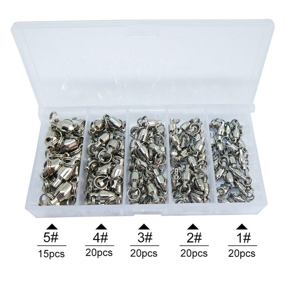 infof 95 pieces kit de pesca giratoria rolamento 01