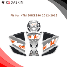 KODASKIN Motorcycle Gas Cap Tank Pad Sticker Decal Emblem for KTM DUKE390 2012-2016