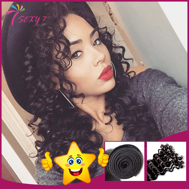 Cheap Brazilian Deep Wave Hair Weave 100 Real Human Hair Extension 1