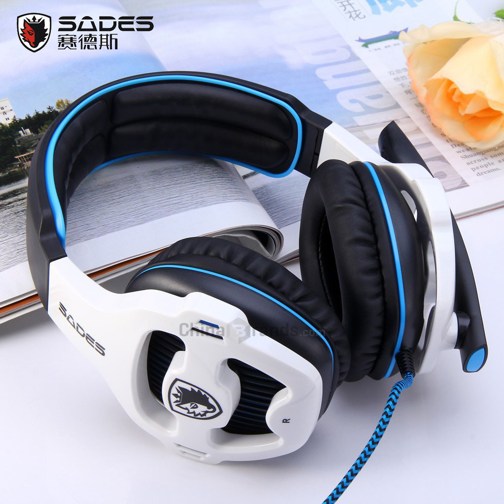 SADES SA-810 Gaming Headset 3.5mm Wired Stereo ear headphone with Microphone for PC Laptop ps4 Xbox one game head phones sades wings headphones 3 5mm phone call and music earphone portable in ear gaming headset for pc xbox one ps4