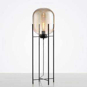 Image 2 - Скандинавский спальня Напольная Лампа для дома деко, новинка, стеклянные напольные светильники, постмодерн, для гостиной, стоячее освещение