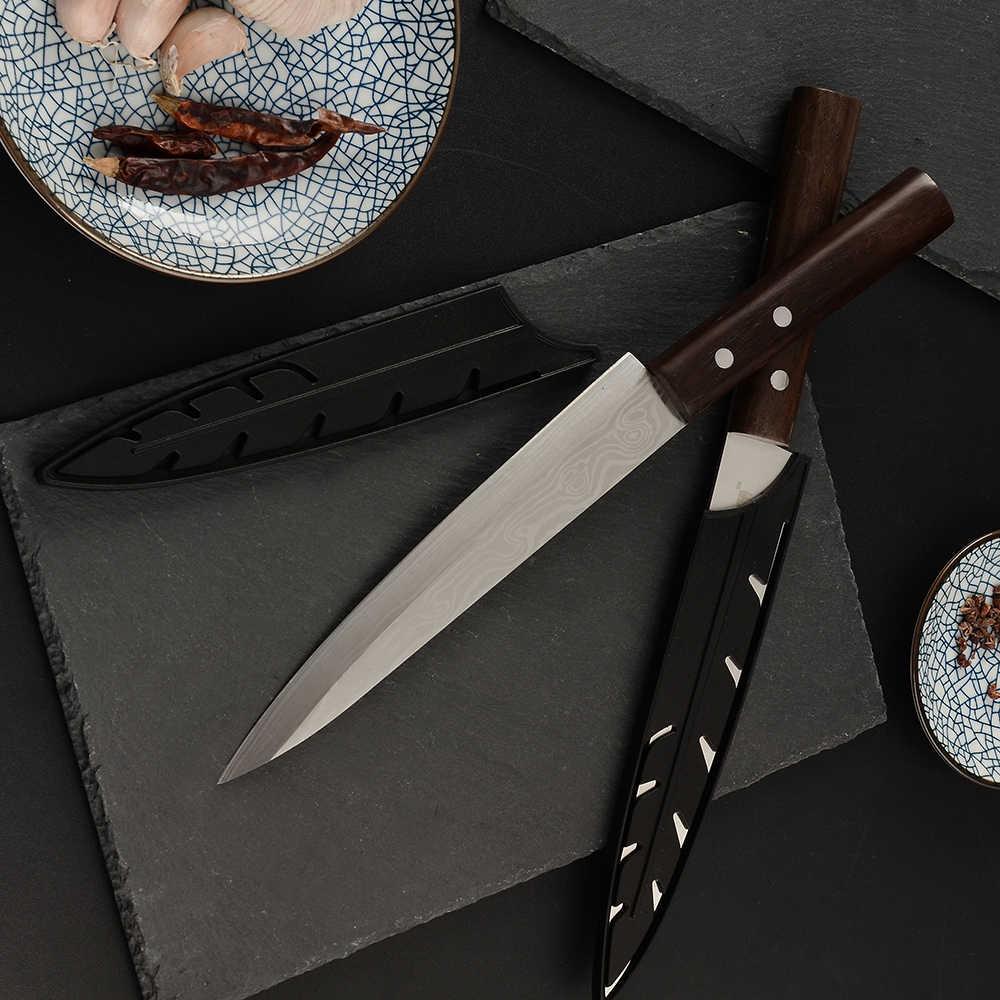 ZINZUO Sashimi nóż 4Cr14Mov wysoka profesjonalna jakość ryby filet nóż łosoś Sushi nóż kuchnia nóż kuchenny narzędzia kuchenne