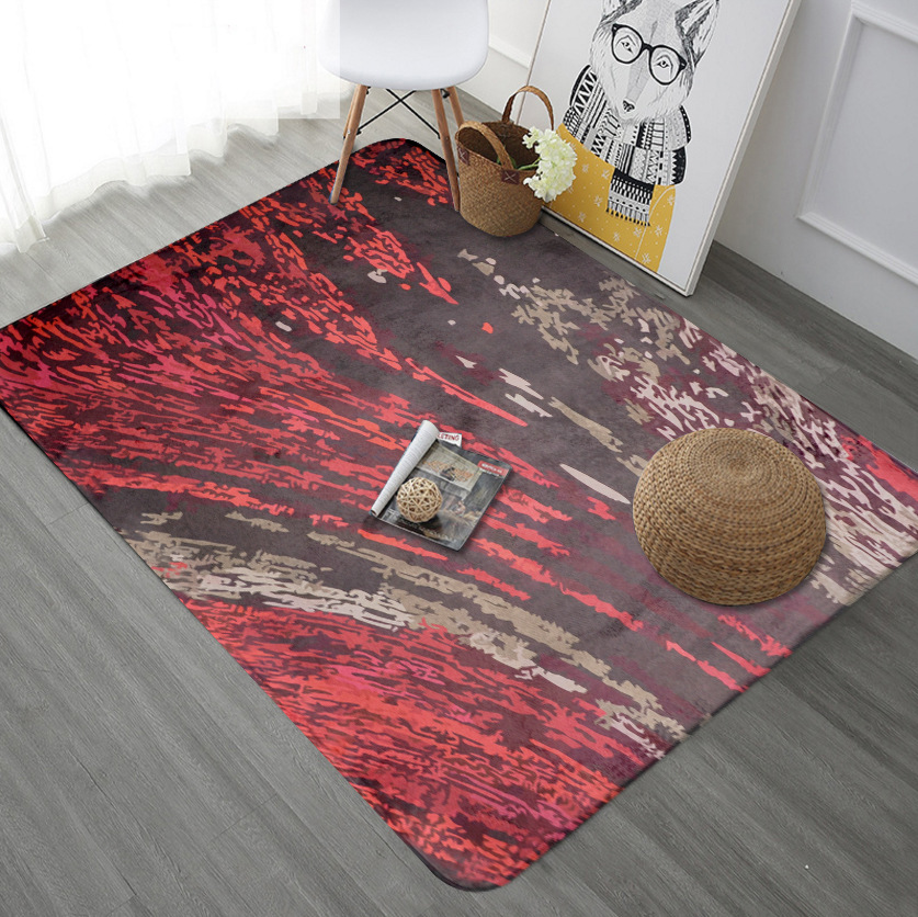 Couleur graffiti série grand tapis entrée porte tapis salon chambre bande absorbant tapis velours impression tapis antidérapant