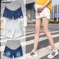 802025f6c Teenster Maternity Clothes Summer Denim Shorts Premama Broken Hole Jeans  Grossesse Pregnancy Trousers Belly Support Plus. Teenster ropa de maternidad  ...