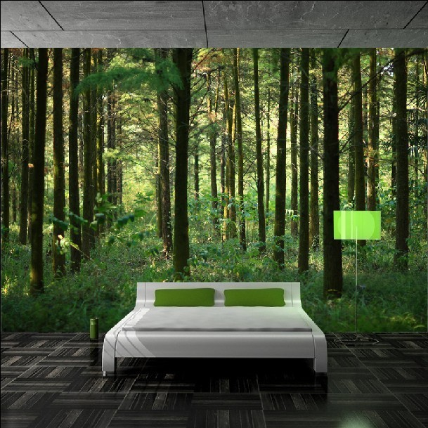 Charmant Free Shipping Photo Wallpaper 3D Stereoscopic Scenery Wall Paper Forest  Living Bedroom TV Sofa Background Mural