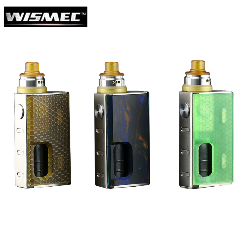 Original Wismec LUXOTIC BF Box Kit with Tobhino BF RDA 7.5ml Bottle Output 100W Vape 810 Top Cap DIY Clapton Coil Ecigarette