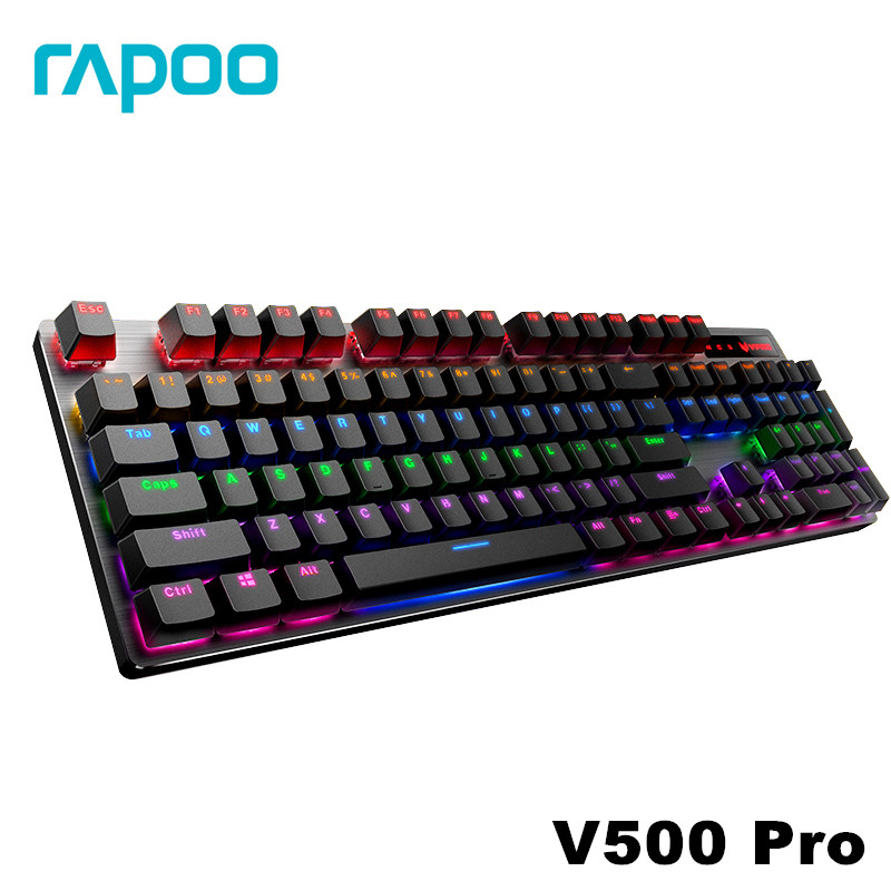 Rapoo V500 Alloy Version Mechanical Gaming Keyboard Teclado with USB Powered for Game Computer Desktop Laptop