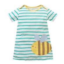 Menoea Girls Dress Summer  New  Short-sleeve Lovely Cat Pattern Kids Clothes Baby Girl Dress European and American Style Dress цена 2017