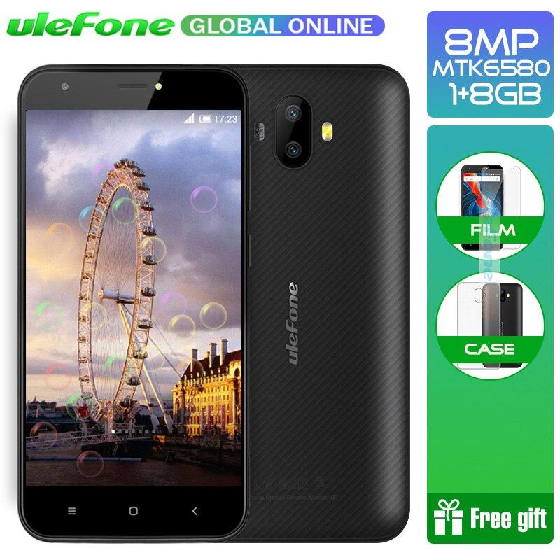 Ulefone S7 5,0 дюймов HD 3G WCDMA смартфон двойной камеры заднего вида MTK6580 4 ядра три слота 8 ГБ Встроенная память Мобильный телефон Android 7,0