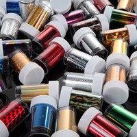 2016 Free Shipping Art Nail Foils WrapsTransfer Glitter Sticker Polish Decoration 50Pcs Hot