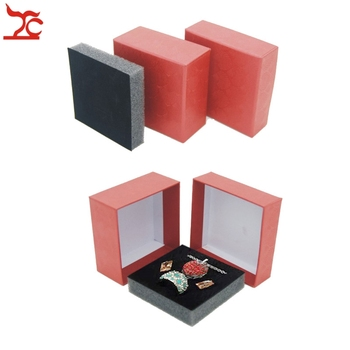 50Pcs Cardboard Jewelry packaging Case 7.3*7.3*3.5cm Shell Texture Paper Ring Pendant Stud Earrings Storage Jewelry Set Gift Box