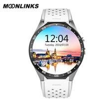Moonlinks KW88 smartwach 3G WCDMA luxury men watch android 5.1 WIFI smartwatch women wiht camera sim relogio gps