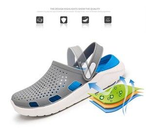 Image 3 - 2020 di estate dei Nuovi Uomini di Sandali EVA Leggero Hollow Beach Pantofole antiscivolo Delle Donne Degli Uomini di Giardino Clog Scarpe Casual infradito