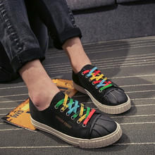 цена New Fashion 2018 Spring/autumn Casual PU Shoes for Man Breathable Low Help Colorful Shoelaces Sneakers Shoes Size 39-44  Gs2 онлайн в 2017 году