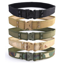outdoor army fan camping Combat Canvas Tactical Sport Belt with Plastic Buckle Army Military Adjustable Outdoor Loop Waistband