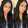 7A Wet and Wavy Bundle With Closure Natural Color Indian Virgin Hair With Closure Straight Weaves Human Hair With Closure