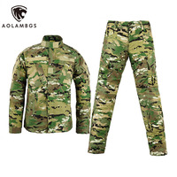 Army Military Tactical Sets Cargo Pants Uniform Waterproof Camouflage Tactical Military Bdu Combat Uniform Us Army