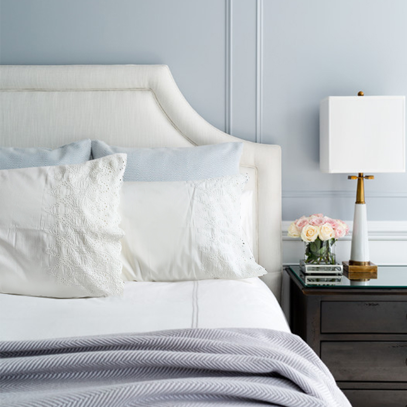 100% Cotton Satin Bedding Pillowcase, White Tribute Silk
