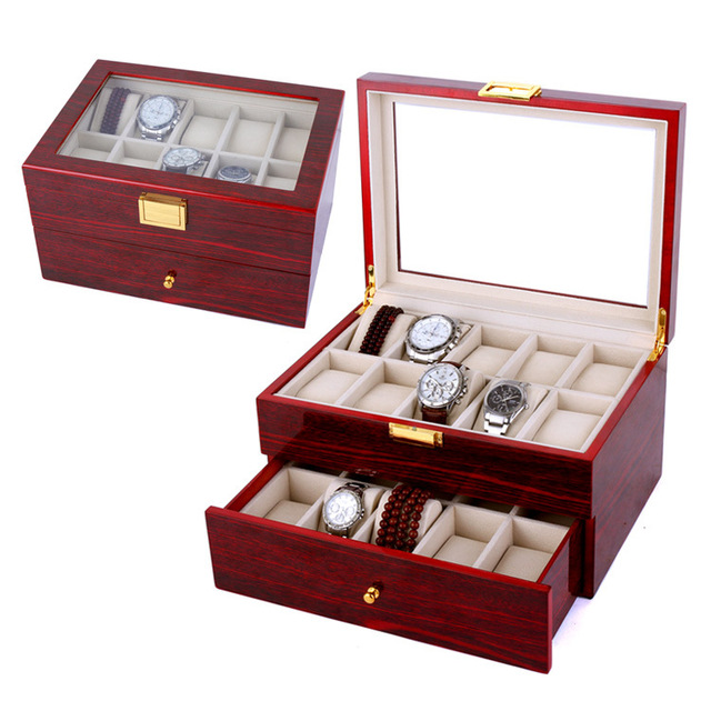 20 Slot Display Watch Case Watch Box Bracelet Watch Jewelry