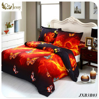Luxury Pattern Bed Linens 100% Polyester Reactive Printed Owls Baby Crib Bedding set 3D Bedspread Cover Set